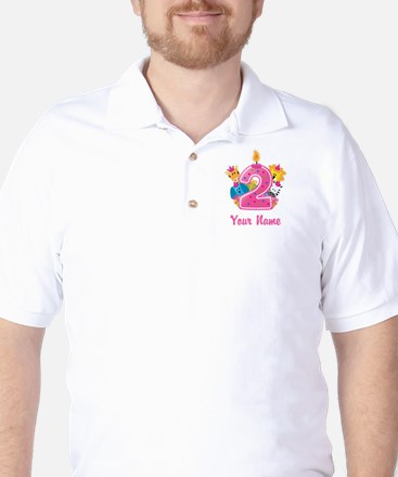 CUSTOM 2 years old Pink Golf Shirt