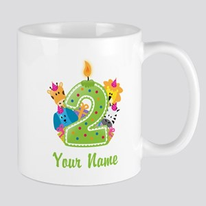 CUSTOM 2 Years Old Green Mugs