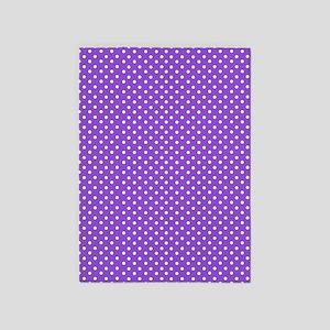Purple Polka Dot 5'x7'Area Rug