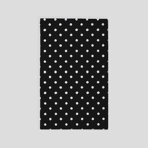 Black and White Polka Dot Area Rug