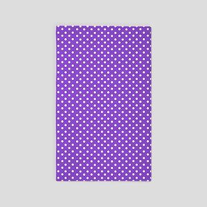 Purple Polka Dot Area Rug
