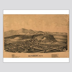 Rare Map of Altamont,NY 1889 Small Poster