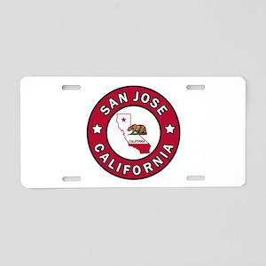 San Jose Aluminum License Plate