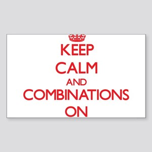 Keep Calm and Combinations ON Sticker