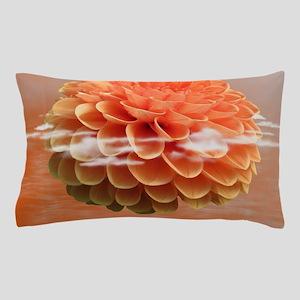 Surreal Coral Colour Dahlia Pillow Case