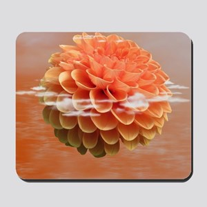 Surreal Coral Colour Dahlia Mousepad