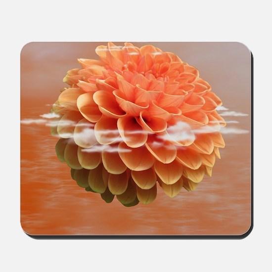 Surreal Coral Colour Dahlia Mousepad