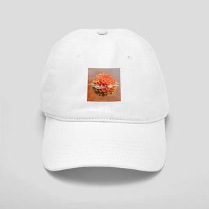 Surreal Coral Colour Dahlia Cap