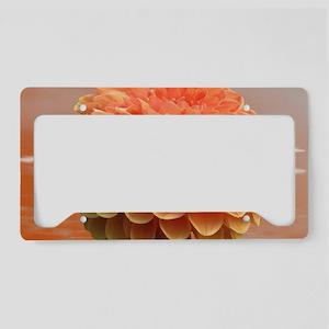 Surreal Coral Colour Dahlia License Plate Holder
