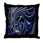 Native American Blue Moon Throw Pillow