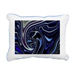 Native American Blue Moo Rectangular Canvas Pillow