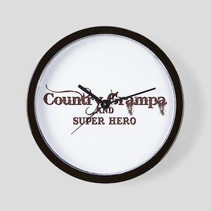 Country Grampa and Super Hero Wall Clock