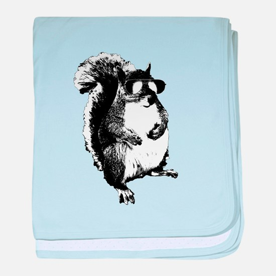 The Shady Squirrel baby blanket