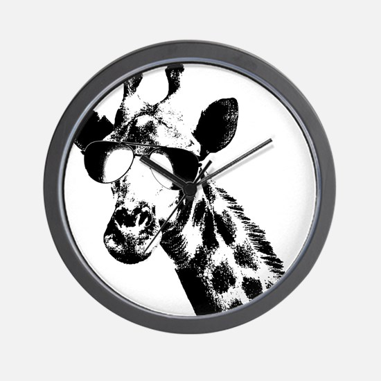 The Shady Giraffe Wall Clock