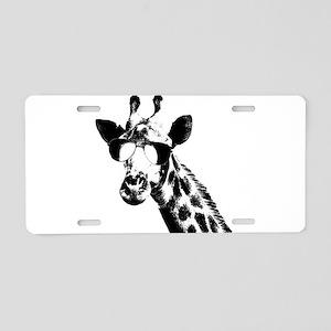 The Shady Giraffe Aluminum License Plate