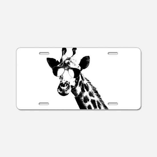 The Shady Giraffe Aluminum License Plate