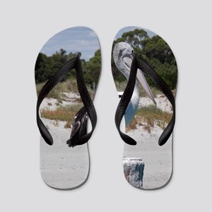 e78551a1c559a8 Pelican Standing on Watch Flip Flops