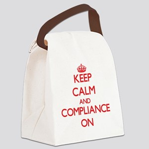 Keep Calm and Compliance ON Canvas Lunch Bag
