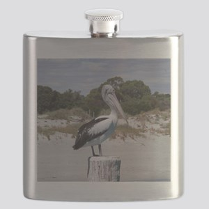 Pelican Standing on Watch Flask