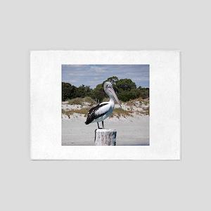 Pelican Standing on Watch 5'x7'Area Rug