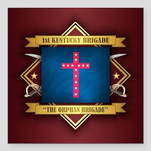 "The Oprhan Brigade Square Car Magnet 3"" x 3"""