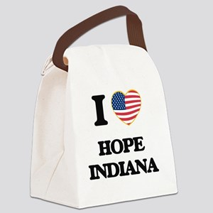 I love Hope Indiana Canvas Lunch Bag