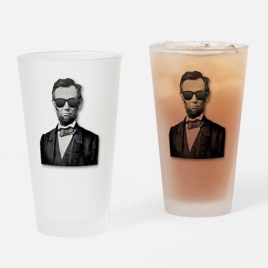 Shady Abe Drinking Glass