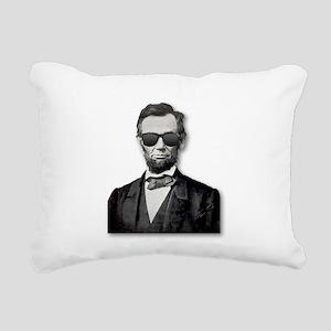 Shady Abe Rectangular Canvas Pillow