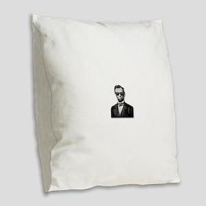 Shady Abe Burlap Throw Pillow