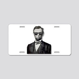 Shady Abe Aluminum License Plate