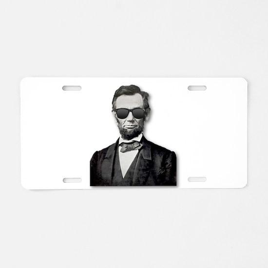Shady Abe Aluminum License Plate