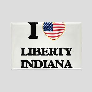 I love Liberty Indiana Magnets
