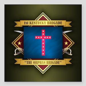 "The Orphan Brigade Square Car Magnet 3"" x 3"""