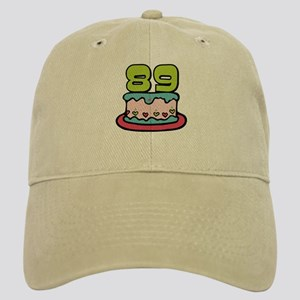 89 Year Old Birthday Cake Cap