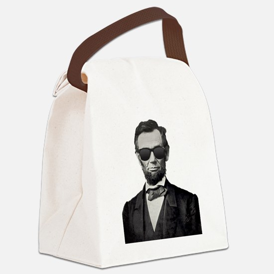 Funny Abe lincoln Canvas Lunch Bag