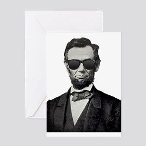 Shady Abe Greeting Cards