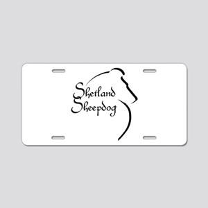 Sheltie Style Aluminum License Plate