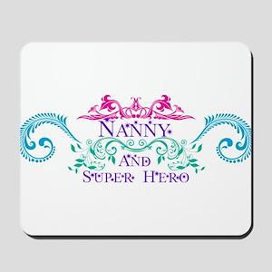 Nanny and Super Hero Design Mousepad