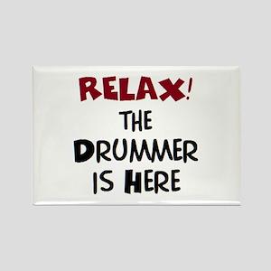 drummer here Rectangle Magnet
