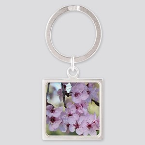 Cherry blossoms in spring time Square Keychain