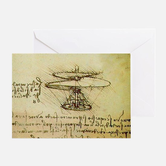 DaVinci Flying Machine Greeting Card