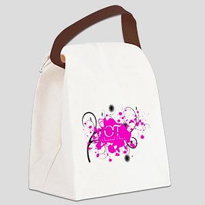 Pink Splatter OT Canvas Lunch Bag