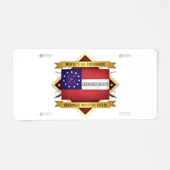 Cherokee Mounted Rifles Aluminum License Plate