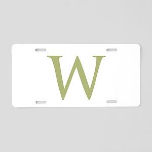 Monogram Initial by LH. Aluminum License Plate