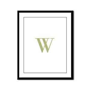 Elegant Monogram in Gold Framed Panel Print