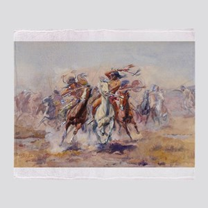 native americans Throw Blanket