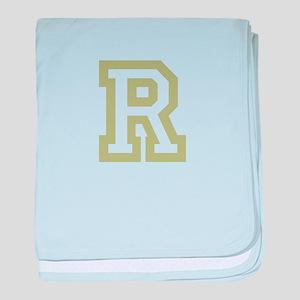Gold Monogram by LH baby blanket