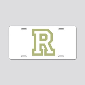 Gold Monogram by LH Aluminum License Plate