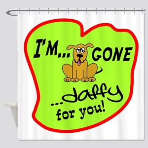 Doggone Daffy Shower Curtain