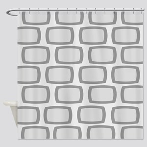 Mid-Century Modern Abstract 9 Shower Curtain